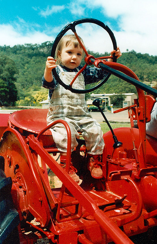 """Isabel - """"riding on a bumpy tractor"""""""