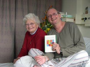 "Mum and Jeremy and ""understanding lung cancer"" brochure"