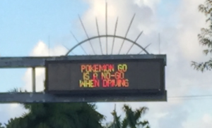 Pokémon Go traffic advisory